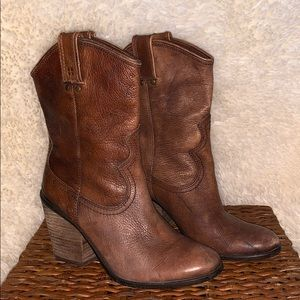 Lucky Brand Leather Booties Elle 7.5